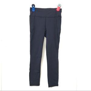 "Lululemon Navy Leggings With Pockets 23"""